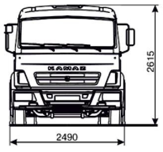 Шасси KAMAZ-4308-3022-C4